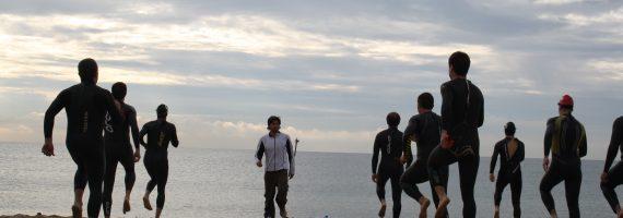 clinic aguas abiertas con BriSport Team y Xavi Llobet