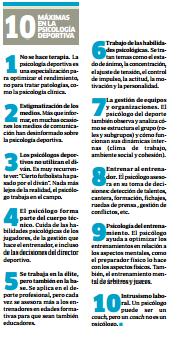 10 Máximas en la Psicología deportiva
