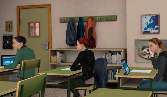 Nuevo entorno de ansiedad ante los exámenes en Realidad Virtual